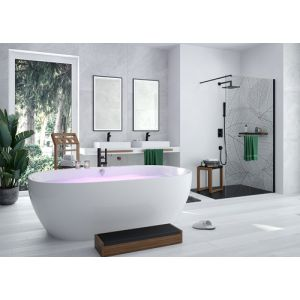 Bathtub iSensi oval monoblock overflow filling 1800x800