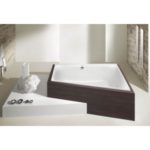 Bathtub Thasos trapeze-shaped 1500x1000 left