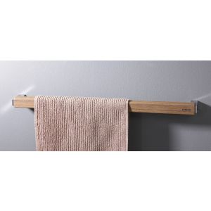 Towel rail made of water-resistant teak wood