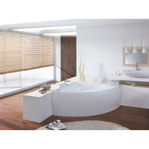 Bathtub Squadra corner 1500 with loose apron