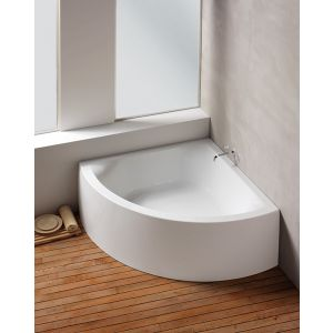 Bathtub Scelta corner 1500 with integrated apron