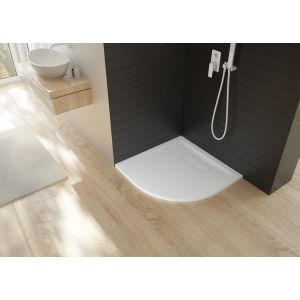 Shower tray Sola quarter circle 900x900