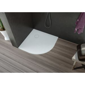 Shower tray Nias cut version quarter circle 1000x1000