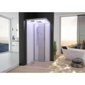 Steam cabin SensePerience 1000x1000 left, without shower tray