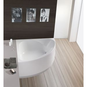 Bathtub Spectra corner 1400 with integrated apron