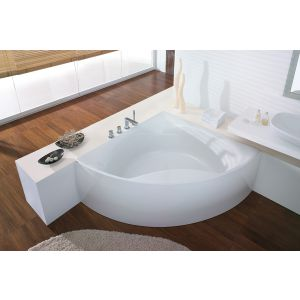 Bathtub Squadra corner 1500 with integrated apron