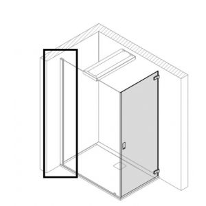 Wall profile 2200 mm for attachment of the Glas panel 8mm