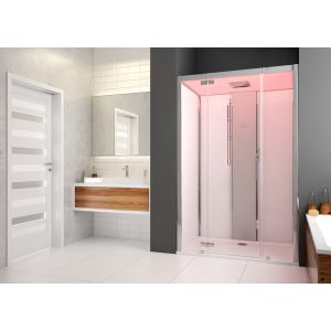 Steam cabin SensePerience 1200x1000 niche left without anti-slip coating