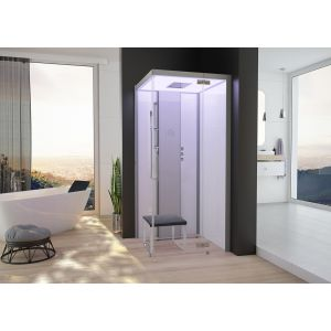 Steam cabin SensePerience 1400x1000 right, without shower tray