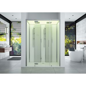 Steam cabin SensePerience 1800x1000 niche left without anti-slip coating