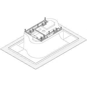 Base frame for bathtub Santee