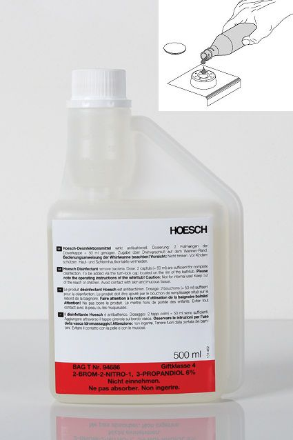 HOESCH disinfectant for whirltubs