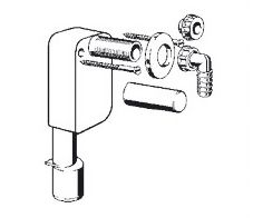 Siphon for wall mounting for draining of steam generator