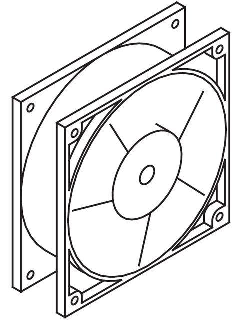 Ventilator incl. pipe mount for steam generator