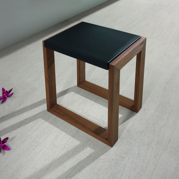Stool made of water-resistant teak wood and PU pad
