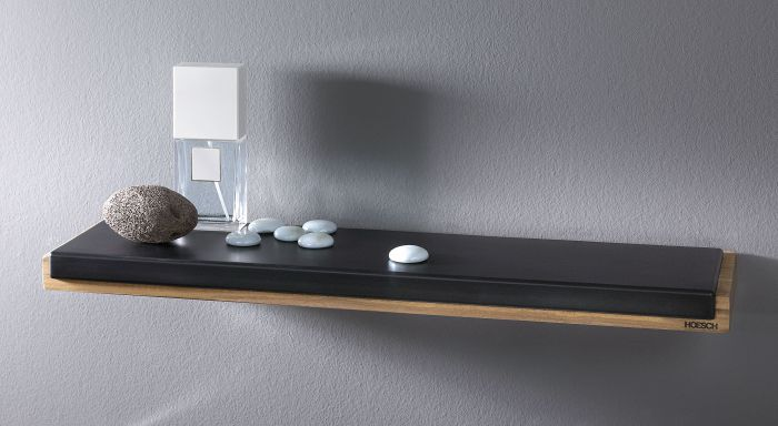 Shelf made of water-resistant teak wood and PU pad