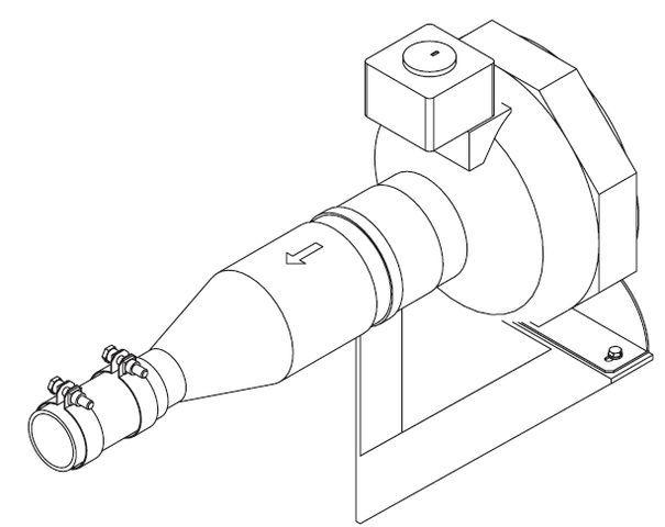 Air-input blower 230V for steam generator