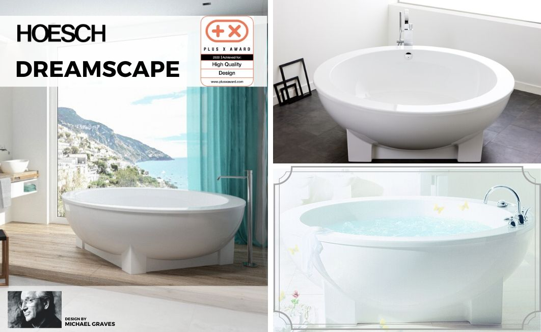 Convincing all round - the Dreamscape bathtub from HOESCH wins the Plus X Award 2020 for high quality and design.