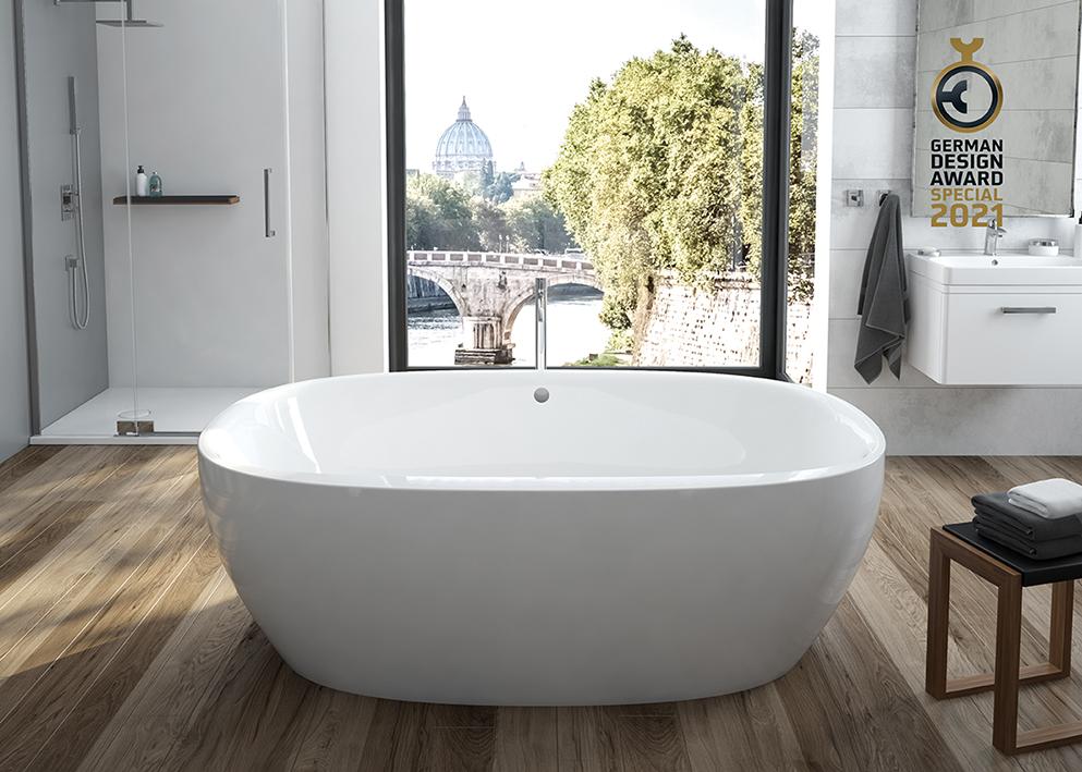Bei HOESCH hat ausgezeichnetes Design Tradition und Zukunft – die Badewanne iSensi erhält den German Design Award 2021.