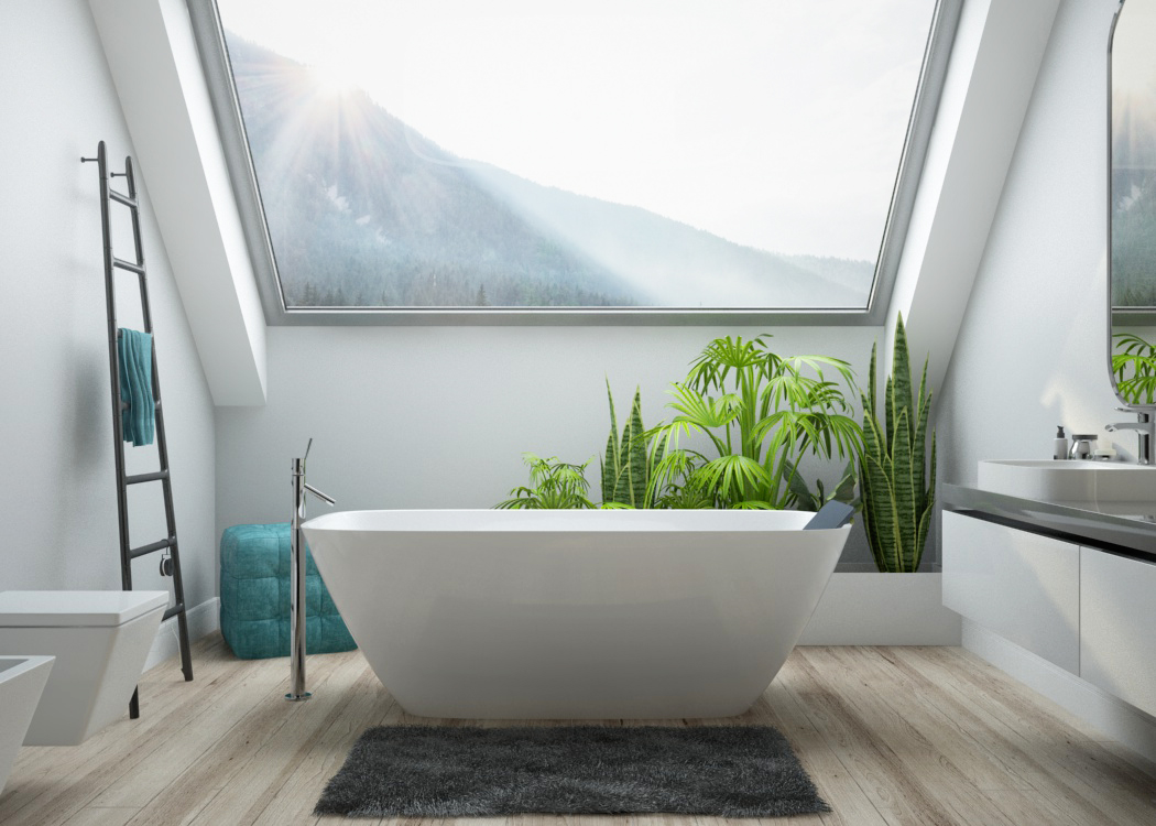 The LaSenia free-standing bathtub