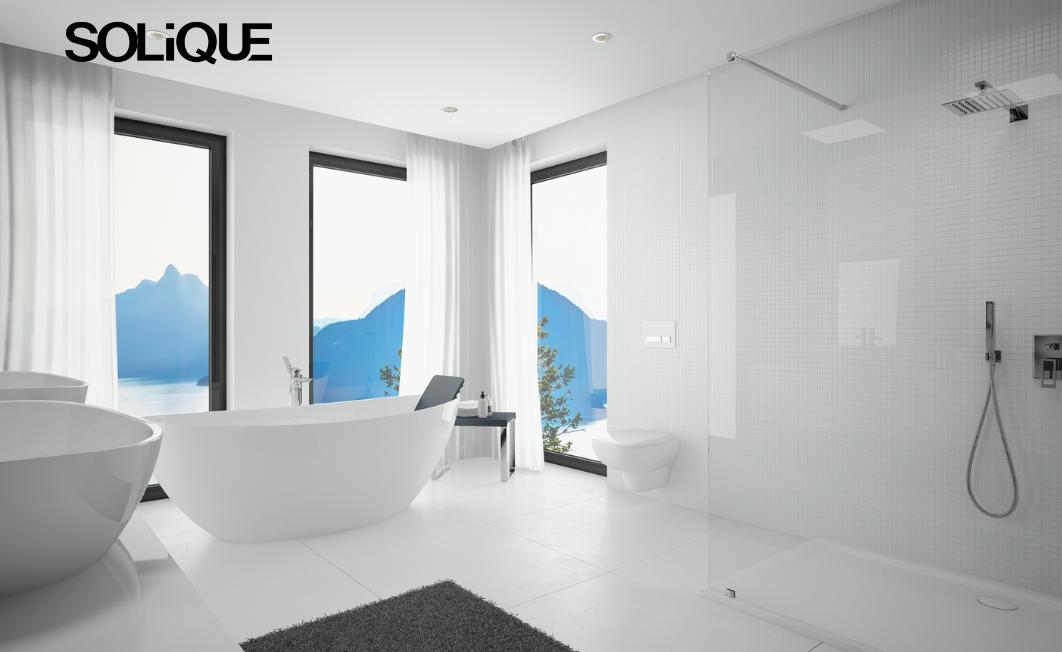 Das Bad wird Solique - Design-Highlights aus innovativem Mineralguss