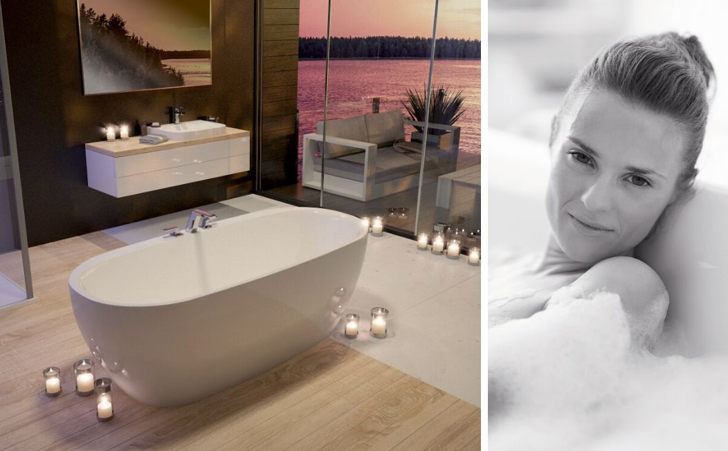 The iSensi bath is made of acrylic – a warm welcome to the new spacious HOESCH comfort zone