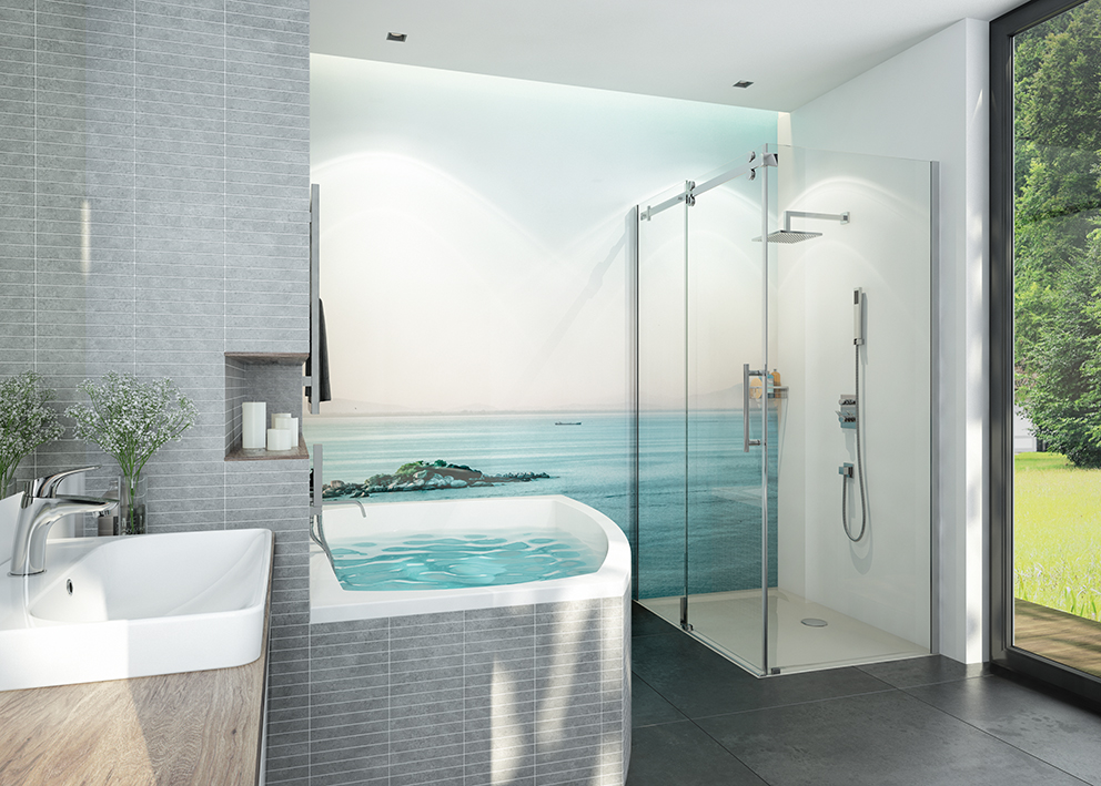 Moderne Linien für Stilbewusste - Bad 9m²
